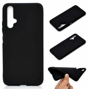 Матовый силиконовый TPU чехол для Huawei Honor 20 / Nova 5T – Черный