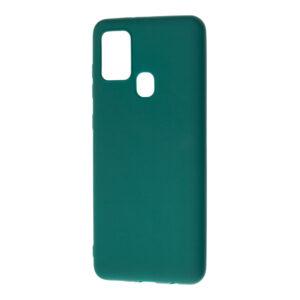 Матовый силиконовый TPU чехол для Samsung Galaxy A21s – Зеленый / Forest green