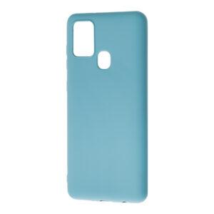 Матовый силиконовый TPU чехол для Samsung Galaxy A21s – Синий / Powder Blue