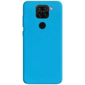 Матовый силиконовый TPU чехол для Xiaomi Redmi Note 9 / Redmi 10X – Голубой