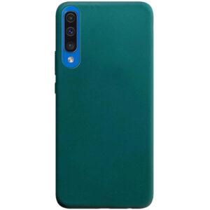 Матовый силиконовый TPU чехол для Samsung A50 / A30s – Зеленый / Forest green
