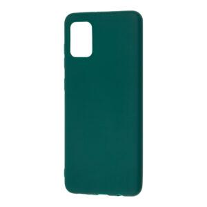 Матовый силиконовый TPU чехол для Samsung Galaxy A31 – Зеленый / Forest green