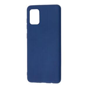 Матовый силиконовый TPU чехол для Samsung Galaxy A31 – Синий
