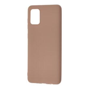 Матовый силиконовый TPU чехол для Samsung Galaxy A31 – Коричневый