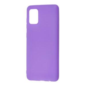 Матовый силиконовый TPU чехол для Samsung Galaxy A31 – Сиреневый