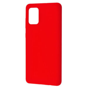 Чехол Silicone Case WAVE Full с микрофиброй для Samsung Galaxy M51 – Red
