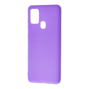 Матовый силиконовый TPU чехол для Samsung Galaxy A21s – Сиреневый