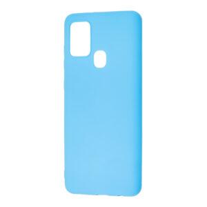Матовый силиконовый TPU чехол для Samsung Galaxy A21s – Голубой