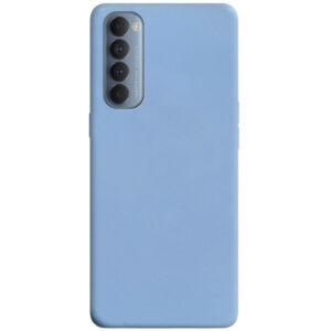 Матовый силиконовый TPU чехол для Oppo Reno 4 Pro – Голубой / Lilac Blue