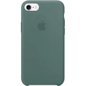 Оригинальный чехол Silicone Case с микрофиброй для Iphone 6 / 6s – Зеленый / Pine green