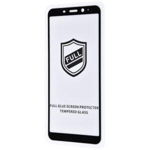 Защитное стекло 3D (5D) Perfect Glass Full Glue на весь экран для Meizu M8 / M8 Lite — Black