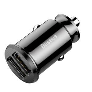Автомобильное зарядное устройство Baseus Grain (2USB 3.1A) – Black