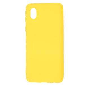 Матовый силиконовый TPU чехол для Samsung Galaxy A01 Core / M01 Core – Желтый