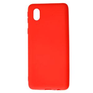 Матовый силиконовый TPU чехол для Samsung Galaxy A01 Core / M01 Core – Красный