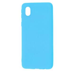 Матовый силиконовый TPU чехол для Samsung Galaxy A01 Core / M01 Core – Голубой