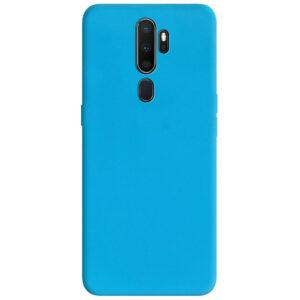 Матовый силиконовый TPU чехол для Oppo A5 (2020) / A9 (2020) – Голубой