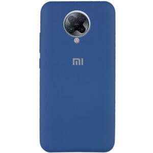 Оригинальный чехол Silicone Cover 360 с микрофиброй для Xiaomi Redmi K30 Pro / Poco F2 Pro – Синий / Navy Blue