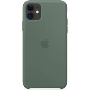 Оригинальный чехол Silicone Case с микрофиброй для Iphone 11 – Зеленый / Pine green