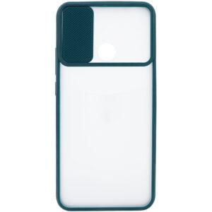 Чехол Camshield mate TPU со шторкой для камеры для Realme C15 / C12 – Зеленый