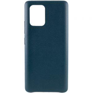 Кожаный чехол Leather Case для Samsung Galaxy S10 lite (G770F) – Зеленый