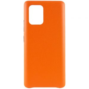 Кожаный чехол Leather Case для Samsung Galaxy S10 lite (G770F) – Оранжевый