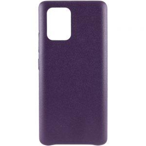 Кожаный чехол Leather Case для Samsung Galaxy S10 lite (G770F) – Фиолетовый