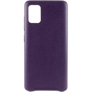 Кожаный чехол Leather Case для Samsung Galaxy A31 – Фиолетовый
