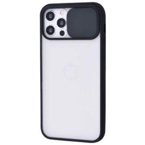 Чехол Camshield mate TPU со шторкой для камеры для Iphone 12 / 12 Pro – Black