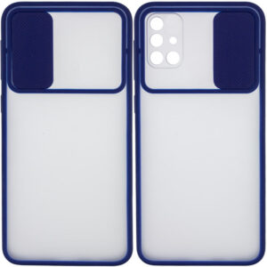 Чехол Camshield mate TPU со шторкой для камеры для Samsung Galaxy M51 – Синий