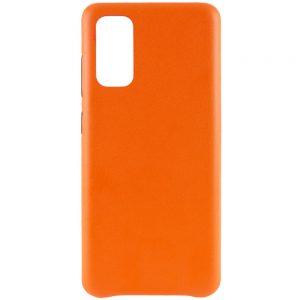 Кожаный чехол Leather Case для Samsung Galaxy S20 – Оранжевый
