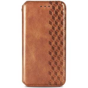 Кожаный чехол-книжка GETMAN Cubic для Samsung Galaxy A32 5G – Коричневый