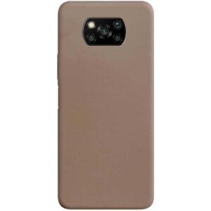 Матовый силиконовый TPU чехол для Xiaomi Poco X3 NFC / Poco X3 – Коричневый