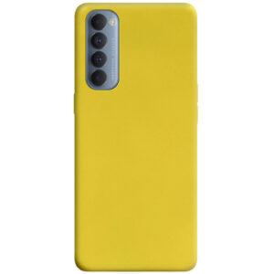Матовый силиконовый TPU чехол для Oppo Reno 4 Pro – Желтый