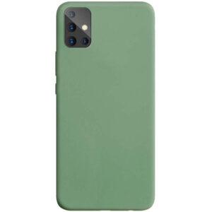 Матовый силиконовый TPU чехол для Samsung Galaxy A71 – Фисташковый