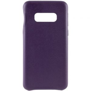 Кожаный чехол Leather Case для Samsung Galaxy S10e (G970) – Фиолетовый