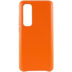 Кожаный чехол Leather Case для Xiaomi Mi Note 10 Lite – Оранжевый