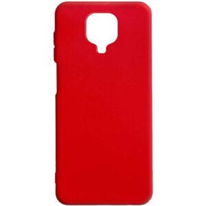 Матовый силиконовый TPU чехол для Xiaomi Redmi Note 9s / Note 9 Pro / Note 9 Pro Max – Красный