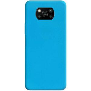 Матовый силиконовый TPU чехол для Xiaomi Poco X3 NFC / Poco X3 – Голубой
