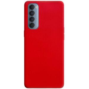 Матовый силиконовый TPU чехол для Oppo Reno 4 Pro – Красный