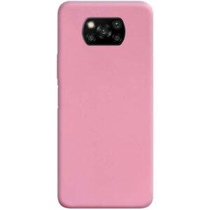 Матовый силиконовый TPU чехол для Xiaomi Poco X3 NFC / Poco X3 – Розовый