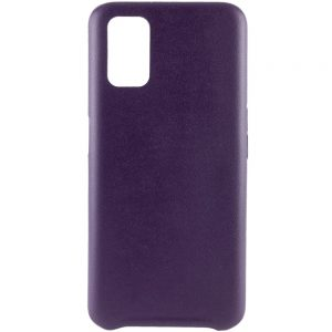Кожаный чехол Leather Case для Oppo A52 / A72 / A92 – Фиолетовый