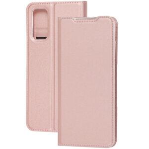 Чехол-книжка Dux Ducis с карманом для Samsung Galaxy S20 FE — Rose Gold