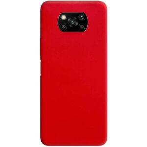 Матовый силиконовый TPU чехол для Xiaomi Poco X3 NFC / Poco X3 – Красный
