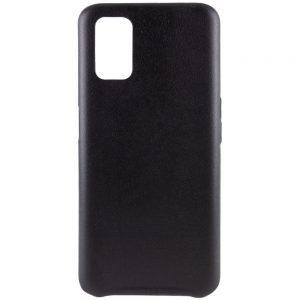 Кожаный чехол Leather Case для Oppo A52 / A72 / A92 – Черный