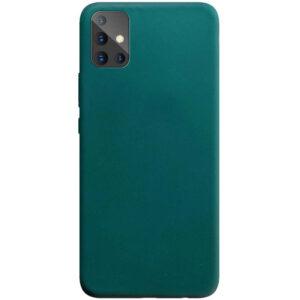 Матовый силиконовый TPU чехол для Samsung Galaxy A51 – Зеленый / Forest green