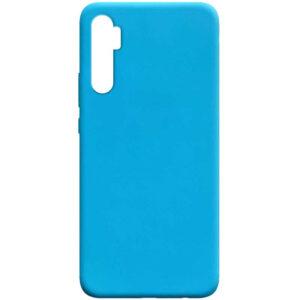 Матовый силиконовый TPU чехол для Xiaomi Mi Note 10 Lite – Голубой