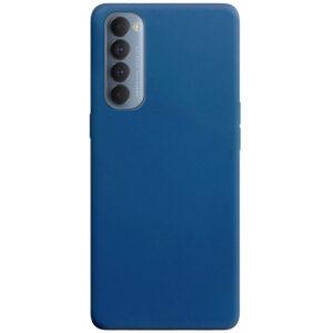 Матовый силиконовый TPU чехол для Oppo Reno 4 Pro – Синий