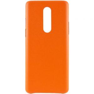 Кожаный чехол Leather Case для OnePlus 8 – Оранжевый