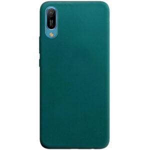 Матовый силиконовый TPU чехол для Huawei Y6 2019 – Зеленый / Forest green