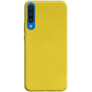 Матовый силиконовый TPU чехол для Samsung A50 / A30s – Желтый